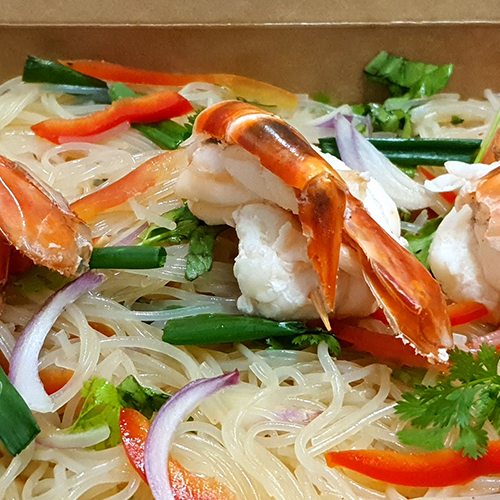 Salade de Cheveux d'Ange aux Crevettes